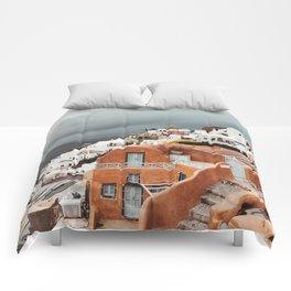 santorini landmark Comforters