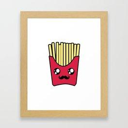 Kawaii French Fries Framed Art Print
