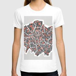 London Boroughs Abstract Map T-shirt