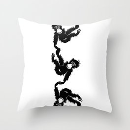 Barrel Full of Monkeys Throw Pillow