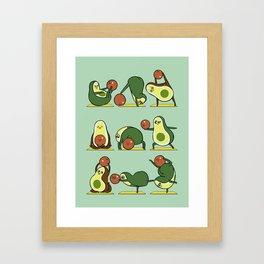 Avocado Yoga With The Seed Framed Art Print