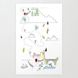 Wanderstrive Art Print