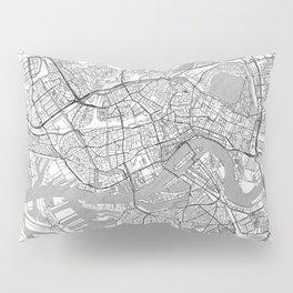 Rotterdam Map Line Pillow Sham