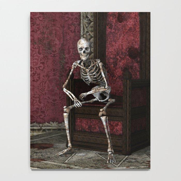 Gothic Waiting Skeleton Notebook