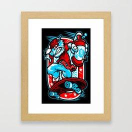 Death Skate Framed Art Print