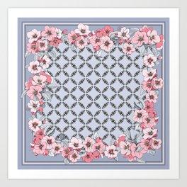 Floral ornament Art Print