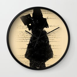 Reading Shadow Wall Clock