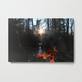 Aligned Fire Metal Print