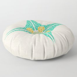 Pata Pattern in Green & Yellow Floor Pillow