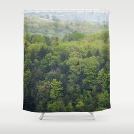Flying Above the Tree Tops - Spring Trees  Shower Curtain