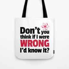 If I Were Wrong Funny Quote Tote Bag