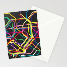 tokyo metro map Stationery Cards