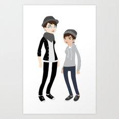 Girlfriend + I Art Print