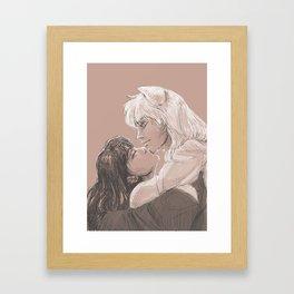 Chin-kisses Framed Art Print