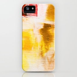 Golden Cave: Red, Yellow and Gold Abstract Painting iPhone Case