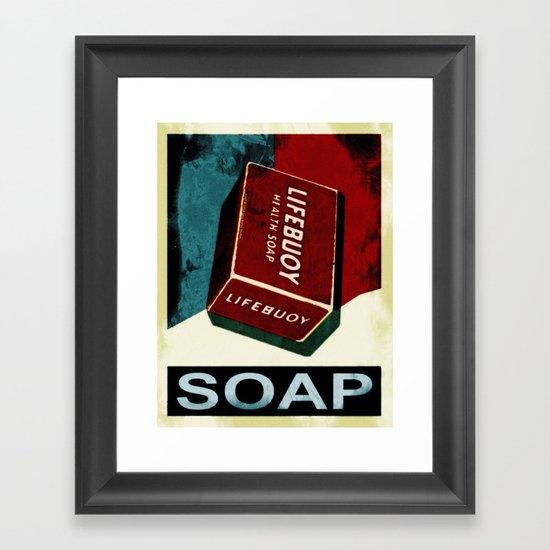 Soap - 054 Framed Art Print