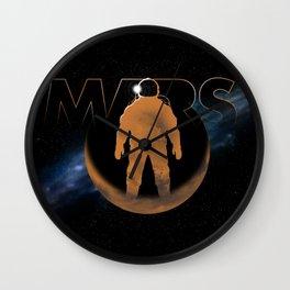 Mars (w/text) Wall Clock