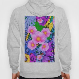 COLORFUL ART DECO STYLE FLORAL GARDEN ART Hoody