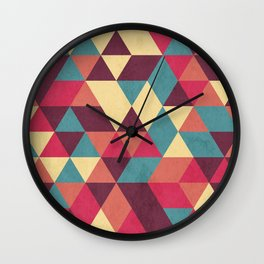 TRIANGLES RED Wall Clock