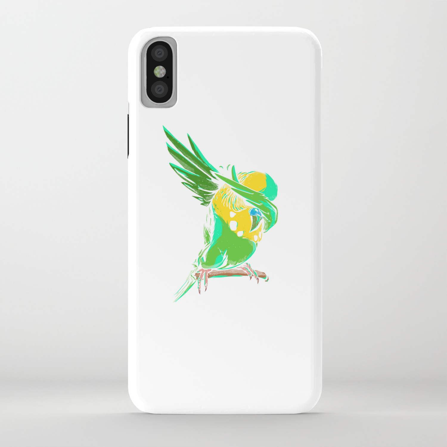 Dabbing Budgie - Funny Dab Budgerigar Owner Gift iPhone Case