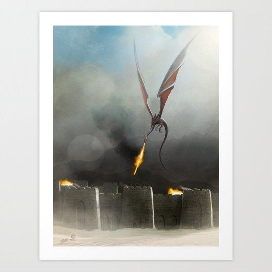 Desert Dragon Art Print