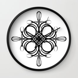 Graphic Black and White Mandala 2 Wall Clock