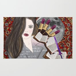 Intelligence and Beauty  Rug