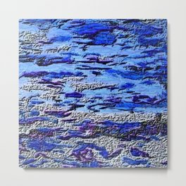 Blue Dream Abstract Painting  Metal Print