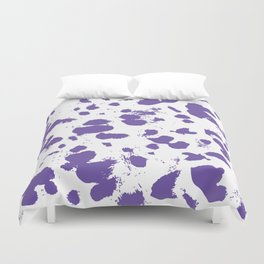 Purple splash Duvet Cover