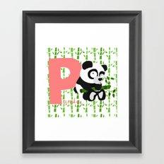 p for panda Framed Art Print