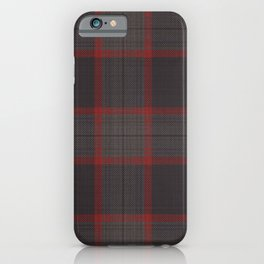 The Cannibal's Dark Taupe and Red Plaid Suit iPhone Case