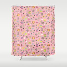 Honey Bees Life Pattern Shower Curtain