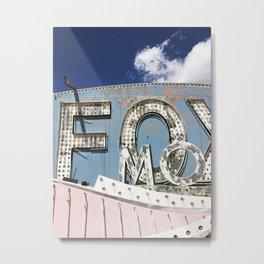 "Las Vegas Neon Sign Graveyard, ""Fox"" Print Metal Print"