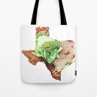 texas Tote Bags featuring Texas by Kyle Fewell