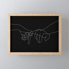 Black Pinky Swear Framed Mini Art Print