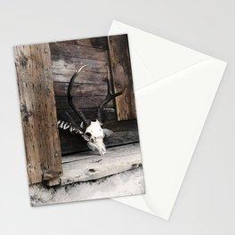 Golden Memoir, deer skull Stationery Cards