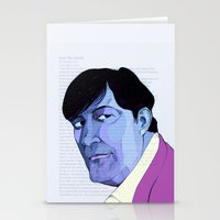 stephen king Stationery Cards featuring Stephen Fry by Mirco