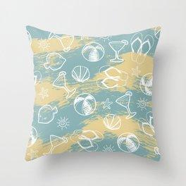 Beachy Summer Throw Pillow