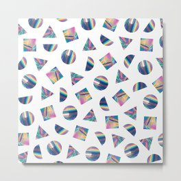 Holographic Shapes 01 Metal Print