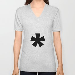 Asterisk (Black & White) Unisex V-Neck