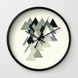 French Alps at Dusk Wall Clock