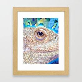 Dragon Star, Bearded Dragon Lizard Art Framed Art Print