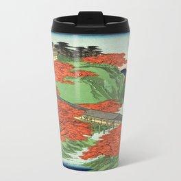 Hiroshige Temple & Mountains Travel Mug