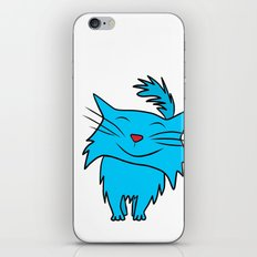 Happy Blue Cat iPhone & iPod Skin