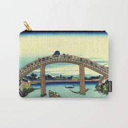 Under Mannen Bridge at Fukagawa (Fukagawa Mannen-bashi shita or 深川万年橋下) Carry-All Pouch