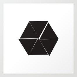 #310 Untidy hexagon – Geometry Daily Art Print