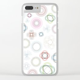 Geometric Flower Garden Clear iPhone Case