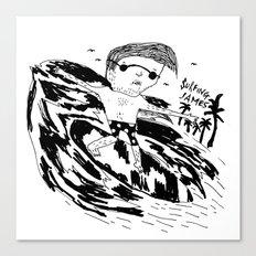 Surfing James Canvas Print