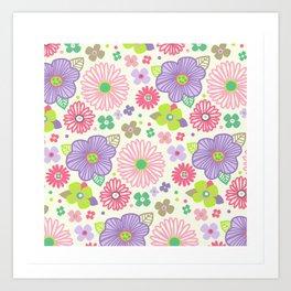 happy flowers Art Print