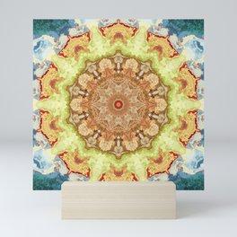 Mirror Lab Mandala no 36 - Yellow Sand dollar Mini Art Print
